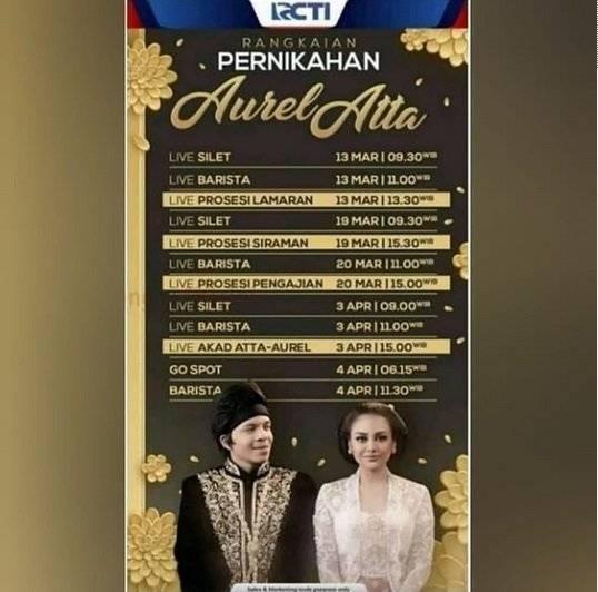 Rundown Pernikahan Atta dan Aurel    Sumber Gambar: https://today.line.me/id/
